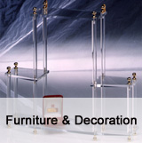 Acrylic furniture and decoration